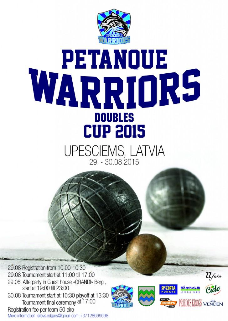 Petanque kauss 2015 plakats A2